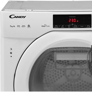 Candy CBTDH7A1TE Integrated 7Kg Heat Pump Tumble Dryer - White - A+ Rated - CBTDH7A1TE_WH - 3