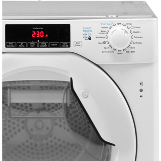 Candy CBTDH7A1TE Integrated 7Kg Heat Pump Tumble Dryer - White - A+ Rated - CBTDH7A1TE_WH - 4