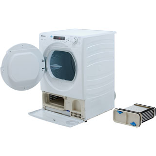 Candy Smart CSC8DF Condenser Tumble Dryer - White - CSC8DF_WH - 4