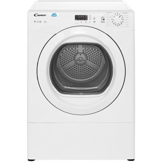 Candy Grand'O Vita CSVV9LG 9Kg Vented Tumble Dryer - White - C Rated - CSVV9LG_WH - 1