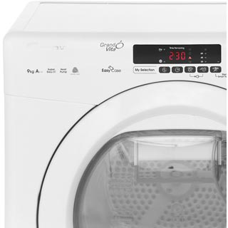Candy Grand'O Vita GVSH9A2DE 9Kg Heat Pump Tumble Dryer - White - A++ Rated - GVSH9A2DE_WH - 3