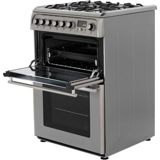 Cannon by Hotpoint CH60DPXFS Dual Fuel Cooker - Stainless Steel - CH60DPXFS_SS - 3
