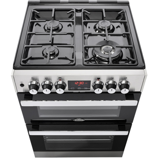Belling Cookcentre 60DF Dual Fuel Cooker - Stainless Steel - Cookcentre 60DF_SS - 2
