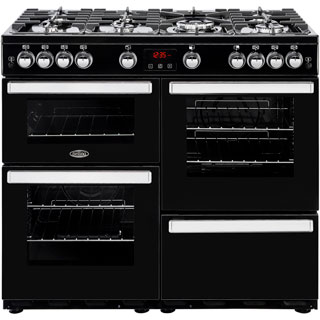 Belling Cookcentre100G Gas Range Cooker - Black - Cookcentre100G_BK - 1