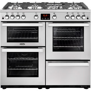 Belling Cookcentre100GProf Gas Range Cooker - Stainless Steel - Cookcentre100GProf_SS - 1