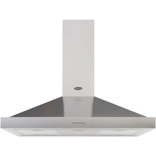 Belling COOKCENTRE 90 CHIM Built In Chimney Cooker Hood - Stainless Steel - COOKCENTRE 90 CHIM_SS - 1