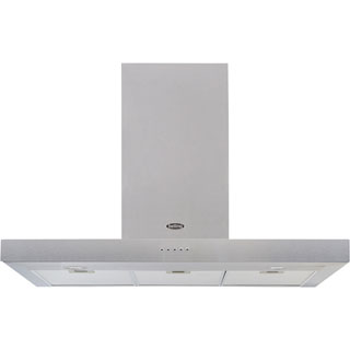 Belling COOKCENTRE 90 FLAT Built In Chimney Cooker Hood - Stainless Steel - COOKCENTRE 90 FLAT_SS - 1