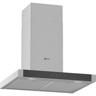 NEFF N50 D64BHM1N0B Built In Chimney Cooker Hood - Stainless Steel - D64BHM1N0B_SS - 1
