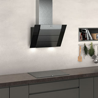 NEFF N50 D65IBE1S0B Built In Chimney Cooker Hood - Black - D65IBE1S0B_BK - 3