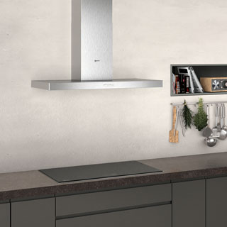 NEFF N30 D92BBC0N0B Built In Chimney Cooker Hood - Stainless Steel - D92BBC0N0B_SS - 3