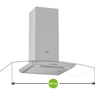 NEFF N30 D94ABC0N0B Built In Chimney Cooker Hood - Stainless Steel - D94ABC0N0B_SS - 2