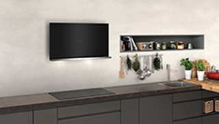 NEFF N70 D95FRM1S0B Built In Chimney Cooker Hood - Black - D95FRM1S0B_BK - 5