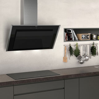 NEFF N90 D95IMT1N0B Built In Chimney Cooker Hood - Black - D95IMT1N0B_BK - 4