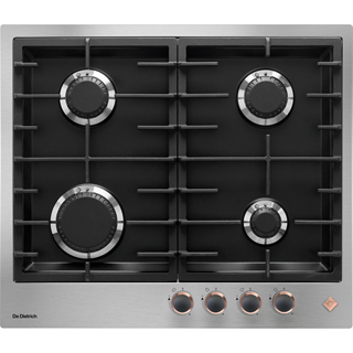De Dietrich DPE7620XF Built In Gas Hob - Stainless Steel / Black - DPE7620XF_SS - 1