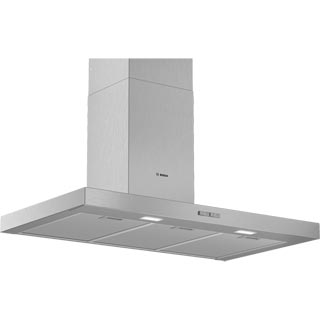 Bosch Serie 2 DWB94BC50B Built In Chimney Cooker Hood - Stainless Steel - DWB94BC50B_SS - 1