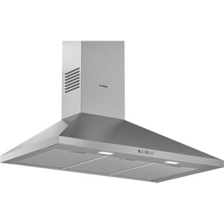 Bosch Serie 2 DWP64BC50B Built In Chimney Cooker Hood - Stainless Steel - DWP64BC50B_SS - 1