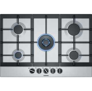 Siemens IQ-500 EC7A5RB90 Built In Gas Hob - Stainless Steel - EC7A5RB90_SS - 1