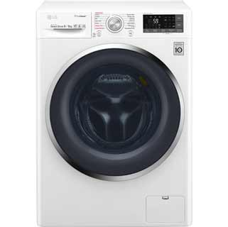 LG Eco Hybrid™ With TrueSteam™ F4J8FH2W Washer Dryer - White - F4J8FH2W_WH - 1
