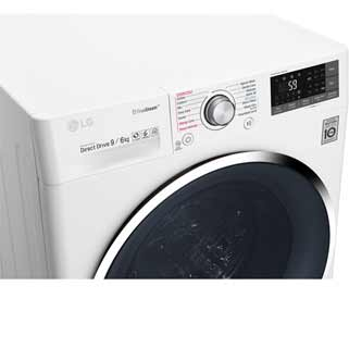 LG Eco Hybrid™ With TrueSteam™ F4J8FH2W Washer Dryer - White - F4J8FH2W_WH - 4