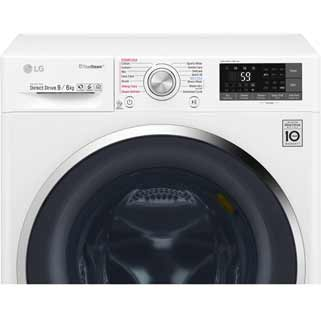 LG Eco Hybrid™ With TrueSteam™ F4J8FH2W Washer Dryer - White - F4J8FH2W_WH - 5