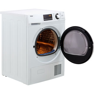 Haier HD90-A636 9Kg Heat Pump Tumble Dryer - White - A++ Rated - HD90-A636_WH - 4