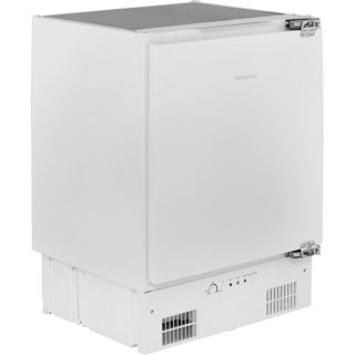 Hisense FUV126D4AW11 Built Under Under Counter Freezer - White - FUV126D4AW11_WH - 1