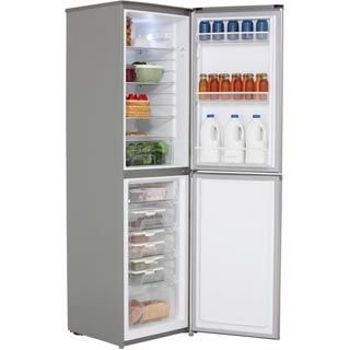 Hoover HFF195XK Fridge Freezer - Stainless Steel - HFF195XK_SS - 2