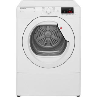 Hoover Link HLV9DG 9Kg Vented Tumble Dryer - White - C Rated - HLV9DG_WH - 1
