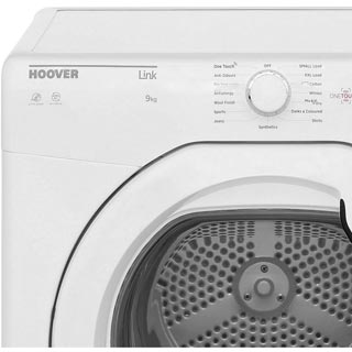 Hoover Link HLV9DG 9Kg Vented Tumble Dryer - White - C Rated - HLV9DG_WH - 2