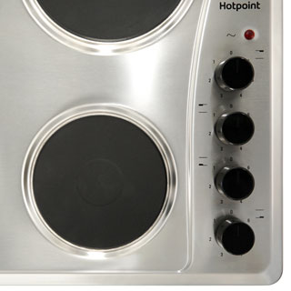 Hotpoint E604.1X Built In Solid Plate Hob - Stainless Steel - E604.1X_SS - 2