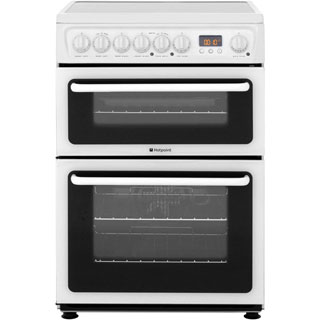 Hotpoint Newstyle HAE60PS Electric Cooker - White - HAE60PS_WH - 1