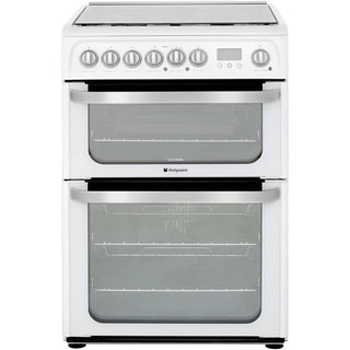 Hotpoint Ultima HUD61PS Dual Fuel Cooker - White - HUD61PS_WH - 1