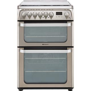 Hotpoint Ultima HUD61XS Dual Fuel Cooker - Stainless Steel - HUD61XS_SS - 1