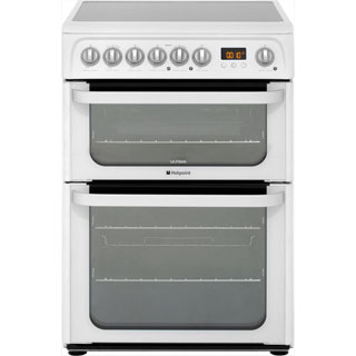 Hotpoint Ultima HUE61PS Electric Cooker - White - HUE61PS_WH - 1