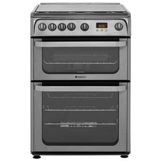 Hotpoint Ultima HUG61X Gas Cooker - Stainless Steel - HUG61X_SS - 1