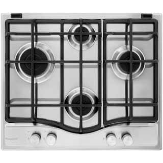 Hotpoint Ultima PCN641IXH Built In Gas Hob - Stainless Steel - PCN641IXH_SS - 1