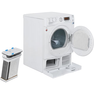 Hotpoint Ultima S-Line SUTCD97B6PM 9Kg Condenser Tumble Dryer - White - B Rated - SUTCD97B6PM_WH - 2