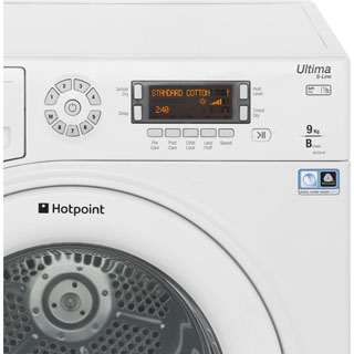 Hotpoint Ultima S-Line SUTCD97B6PM 9Kg Condenser Tumble Dryer - White - B Rated - SUTCD97B6PM_WH - 4