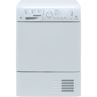 Hotpoint TCHL870BP 8Kg Condenser Tumble Dryer - White - B Rated - TCHL870BP_WH - 1