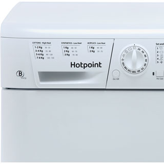 Hotpoint TCHL870BP 8Kg Condenser Tumble Dryer - White - B Rated - TCHL870BP_WH - 2