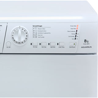 Hotpoint TCHL870BP 8Kg Condenser Tumble Dryer - White - B Rated - TCHL870BP_WH - 3