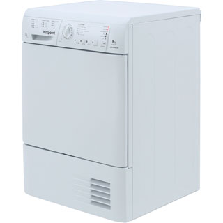 Hotpoint TCHL870BP 8Kg Condenser Tumble Dryer - White - B Rated - TCHL870BP_WH - 5