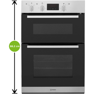 Indesit Aria IDD6340WH Built In Electric Double Oven - White - IDD6340WH_WH - 2