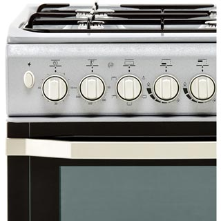 Indesit I5GSH1S Dual Fuel Cooker - Silver - I5GSH1S_SI - 2
