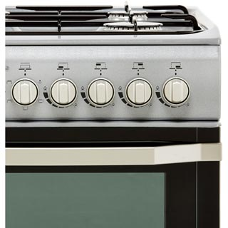 Indesit I5GSH1S Dual Fuel Cooker - Silver - I5GSH1S_SI - 3