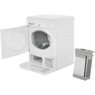 Indesit Eco Time IDC8T3B 8Kg Condenser Tumble Dryer - White - B Rated - IDC8T3B_WH - 2