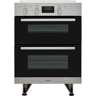 Indesit Aria IDU6340IX Built Under Electric Double Oven - Stainless Steel - IDU6340IX_SS - 1