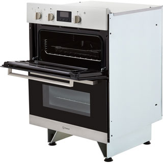 Indesit Aria IDU6340IX Built Under Electric Double Oven - Stainless Steel - IDU6340IX_SS - 5