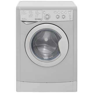 Indesit Eco Time IWDC6125S Washer Dryer - Silver - IWDC6125S_SI - 1