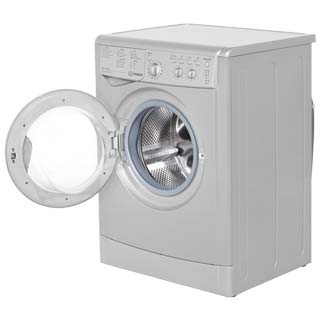 Indesit Eco Time IWDC6125S Washer Dryer - Silver - IWDC6125S_SI - 2